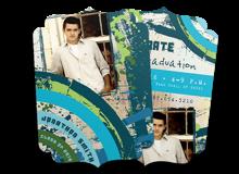 Paint Splatter Grad Card