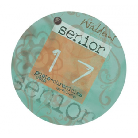 "BG075  2"" Aqua Round Sticker"