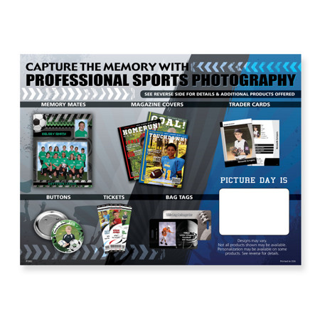 P1082  Capture the Memory With Sports Photography 9x12 Envelope Without Pocket