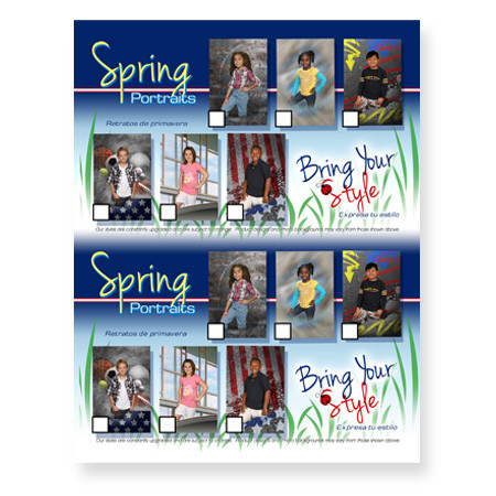 P1086  Spring Portraits - Express Your Style 2-Up Picture Day Notice