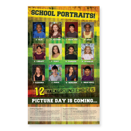 P1095  Picture Day is Coming: 12 Backgrounds