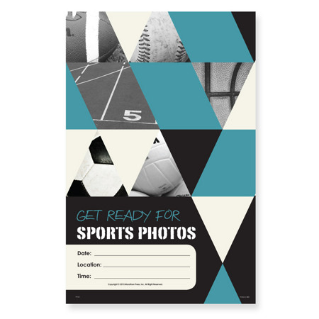 P1107  Get Ready For Sports Photos Poster