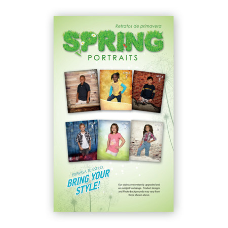 P1129  Spring Portraits - Bring Your Style Prepay Flyer