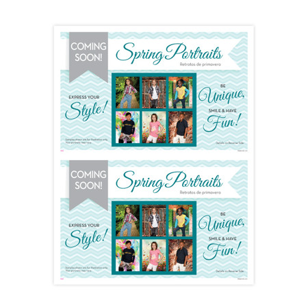 P1134  Spring Portraits - Express Your Style 2-Up Picture Day Notice