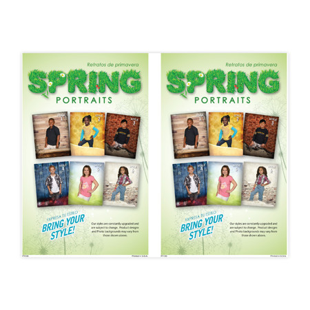 P1135  Spring Portraits - Bring your Style 2-Up Picture Day Notice