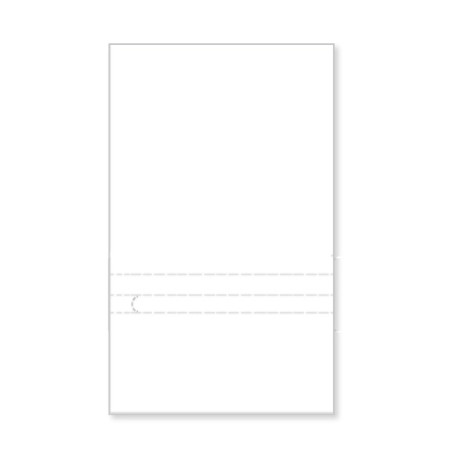 "P1144  Blank Prepay Flyer 4"" Pocket"