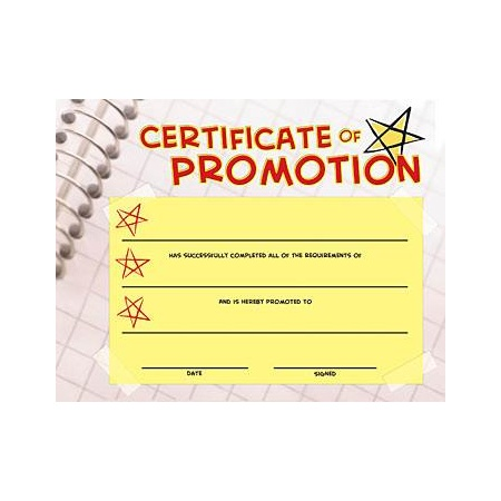 P896  Certificate of Promotion