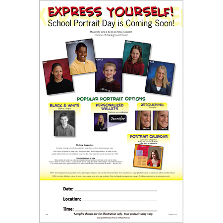 P926  Express Yourself Poster - Gel Background