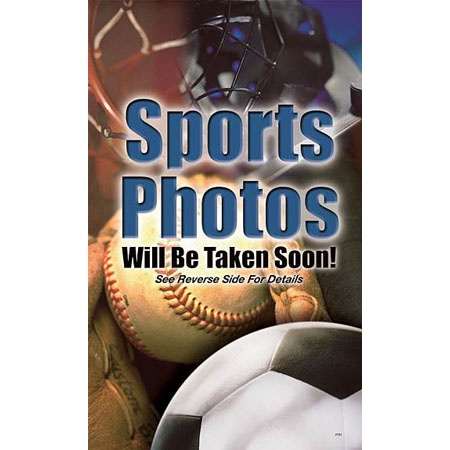 "P997  Sports Photos Prepay Flyer-5"" Pocket"