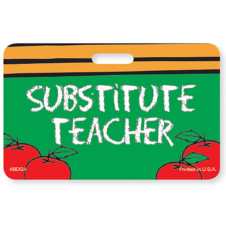 PBDG4  Substitute Teacher Badge