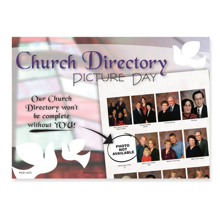 PCD1073  Celebrating Faith Church Picture Appt. Card